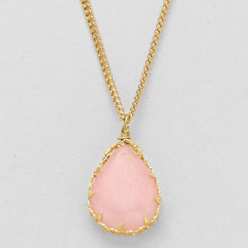 Natural Stone Pink Necklace