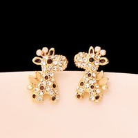 Giraffe Full Rhinestone Earrings