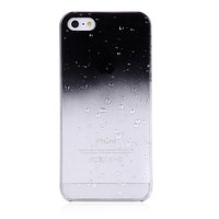 Black Clear Waterdrop Hard Case For iPhone 5 & 5S