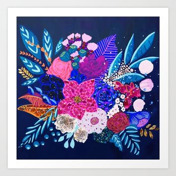 Jewel Bouquet Art Print by Michelle Nilson