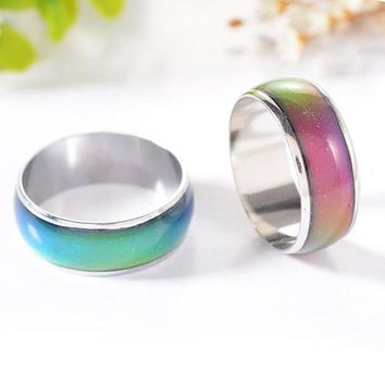 ESB8UV 3Pcs Women Men Temperature Emotion Feeling Color Changing Mood Ring Jewelry
