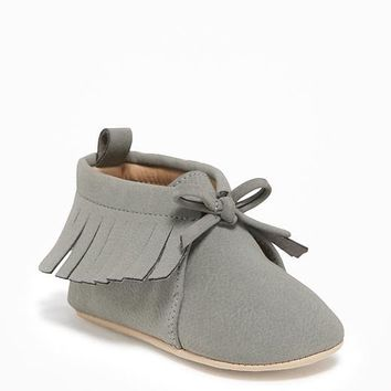 Sueded Fringe Moccasins for Baby | Old Navy