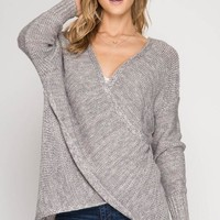 Fall Frame of Mind Sweater - Grey