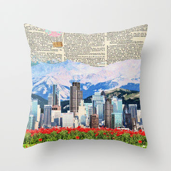 A World of My own Throw Pillow by Courtney Burns