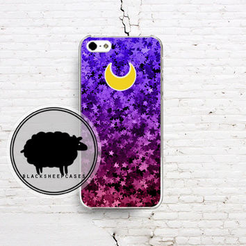 Sailor Moon Glitter LUNA Moon Cat iPhone 4 4s 5 5s 5c iPod Touch 4 5 Galaxy S3 S4 Case