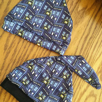 Doctor Who Baby Beanie Hat READY TO SHiP for your LiTTLE Whovian or Time Lord FuN Baby Shower GifT Adorable! Boutique Designs by Sugarbear