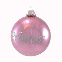 Holiday Ornament Princess Ornament Glass Ornament