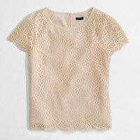 Factory scalloped lace tee - blouses/tees - FactoryWomen's Shirts & Tops - J.Crew Factory