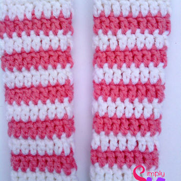 Free Crochet Pattern Leg Warmers Child : Crochet Striped Newborn Leg Warmers from Simply Knots Simply