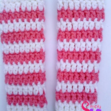Crochet Striped Newborn Leg Warmers Pattern, Photo Prop Pattern, Adult Child Leg Warmer Accessory Pattern