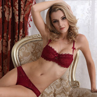 new arrived Sexy lace comfortable ultra-thin transparent bra ladies lingerie The women bra&briefs set