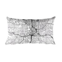 Atlanta Map Throw Pillow