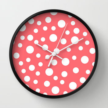 Crazy Coral Wall Clock by Eileen Paulino