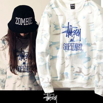 DCCKUNT Fashion Stussy and Sophnet Tie Dye Embroidered Pullovers Sweaters Hoodies