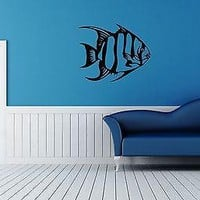 Wall Stickers Vinyl Decal Fish For Bathroom Ocean Sea Marine Animal Unique Gift ig1688