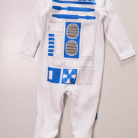 white R2D2 STAR WARS 100%Cotton Long Sleeve Clothing Similar Jumpsuit Printed Baby Boy Girl Bodysuits baby boy girl clothes