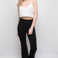 Bell Bottom Trousers - Black