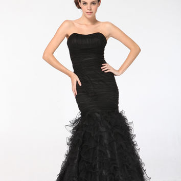 Incredibly Stunning Black Manhattan Mermaid Gown - 4 to 16