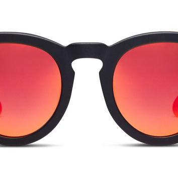 DIME II - MATTE BLACK FRAME - RED MIRROR LENS