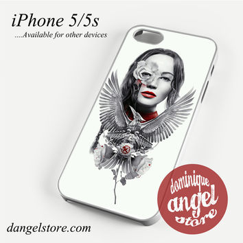 The Hunger Game Katniss and roses Phone case for iPhone 4/4s/5/5c/5s/6/6 plus