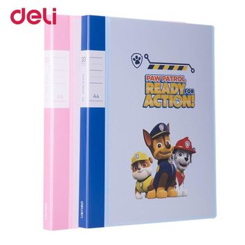 Deli Paw patrol A4 30/40/60 multi-layer file folder for school office documents supplies PP cartoon transparent display book