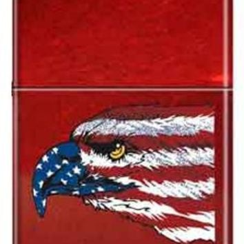 Zippo Custom Lighter - American USA Eagle & Flag RARE!
