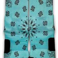 Tiffany Bandana Custom Elite Socks