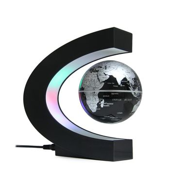 Novelty LED World Map Floating Globe Lamp