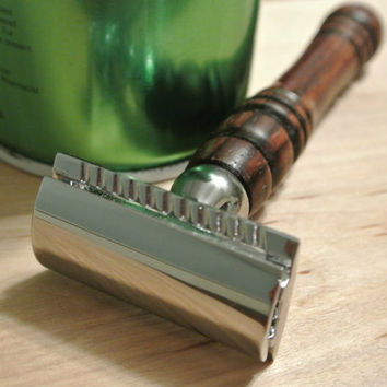 Custom Men's Double Edge Safety Razor in Cocobolo