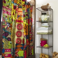African Print Shower Curtain - VivaTerra