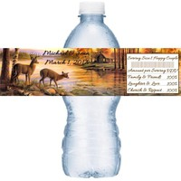 21 Hunting Wedding Water Bottle Labels