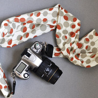 Scarf Camera Strap - Amy Butler Modern Midwest - dSLR Camera Straps