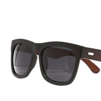 AWE Wooden Sunglasses - Wooden Sunglasses with Matte Black Front