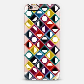 diamond moon stripe transparent iPhone 6s case by Sharon Turner | Casetify
