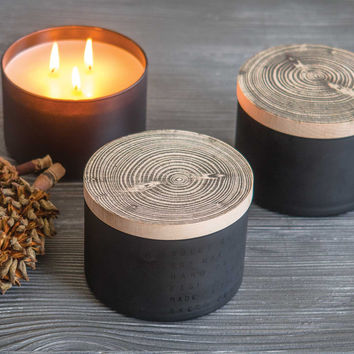 End Grain Candles