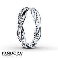 Pandora Twist Ring Clear CZ Sterling Silver
