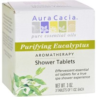 Aura Cacia Aromatherapy Shower Tablets Purifying Eucalyptus - 3 Tablets