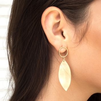 Leaflet Gold Earrings