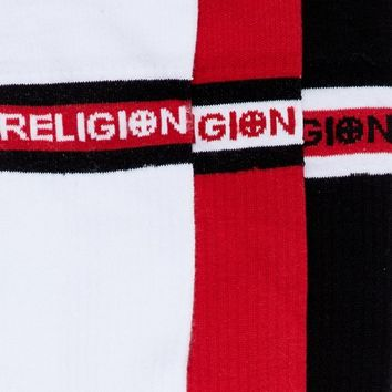 Religion 3 Pack Socks With Sport Stripe at asos.com