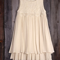 Cupshe Someday's Lovin Lace Tank Dress