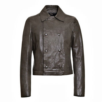 Men's Double-breasted Leather Jacket