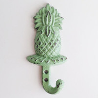 Pineapple Key Hook, Southern Home Decor, Vintage Style Wall Hook, Realtor Gift, Cast Iron Coat Hook