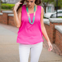 Feelin Bright Tank, Hot Pink