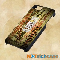 A Day To Remember Song For IPHONE, IPOD, IPAD and SAMSUNG GALAXY CASE