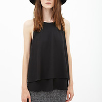 FOREVER 21 Layered Woven Blouse