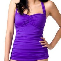 Bathing Beauty One Piece in Violet | Mod Retro Vintage Bathing Suits | ModCloth.com