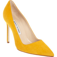 Manolo Blahnik Suede BB at Barneys.com