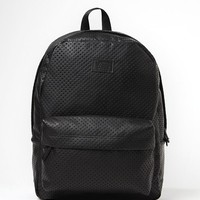 Vans Cameo Perforated Faux Leather School Backpack - Womens Backpack - Black - One