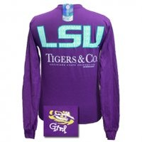 LSU Tigers and Company Purple Long sleeve LSU Tigers and Company Purple Long sleeve : Girlie Girl™ Originals - Great T-Shirts for Girlie Girls!