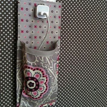 Docking Station for iPhone 5 iPhone 4 iPod touch iPhone 4S in grey, pink, maroon, off white floral patterns
